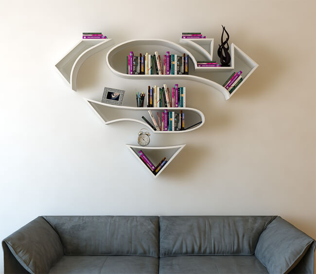 Superhero Bookshelves By Burak Doğan 1