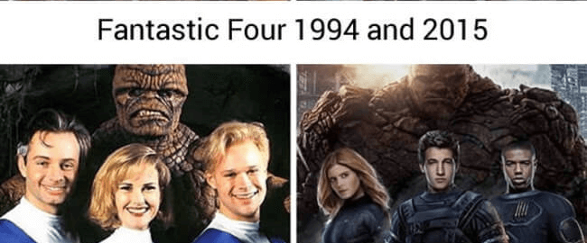 superheroes then and now - Fantastic four (1)