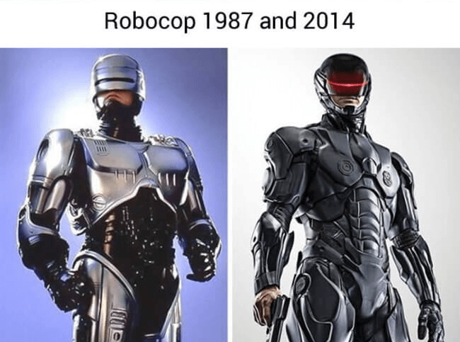 superheroes then and today - Robocop (1)