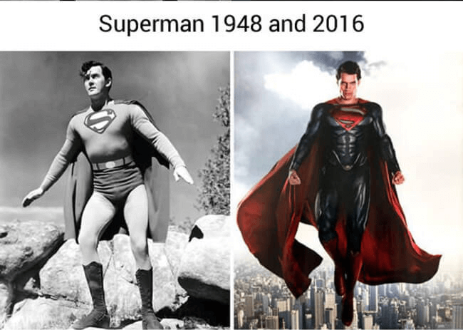 superhero then and now - Superman (1)
