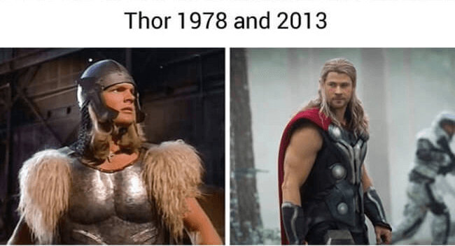 superheroes then and now - Thor (1)