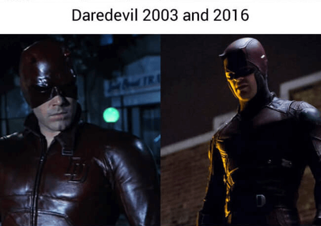 superheroes then and now - daredevil (1)