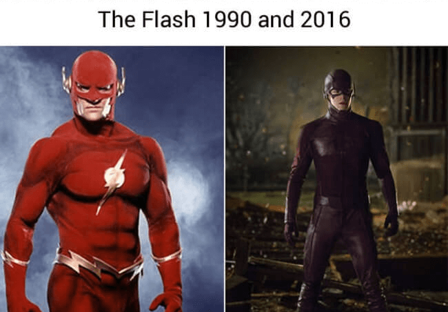 superhero then and now - the flash (1)