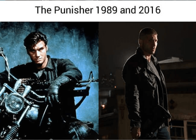 superheroes then and now - the punisher (1)