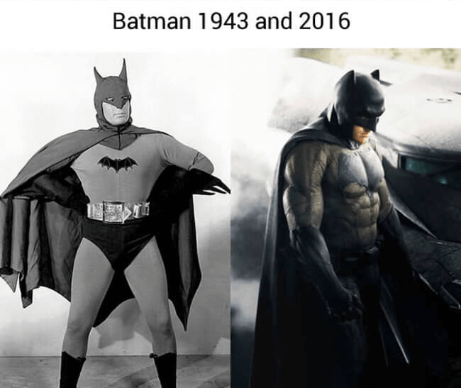 superhero then and now - Batman (1)