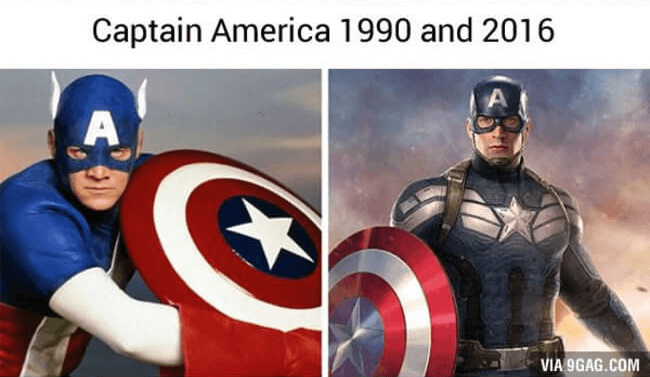 superhero then and now - captain america (1)