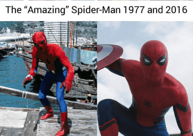 superhero then and now - spiderman (1)