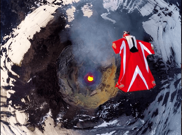 supermodel jumps inside volcano (1)