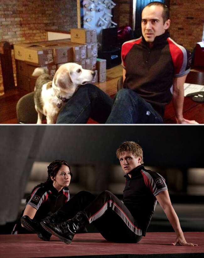 Guy Hilariously Recreates Famous Romantic Movie Scenes With Dog 11