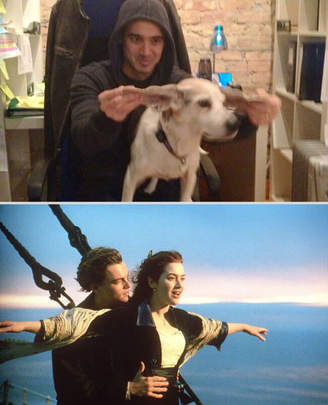 Famous Movie Scenes With His Dog 1