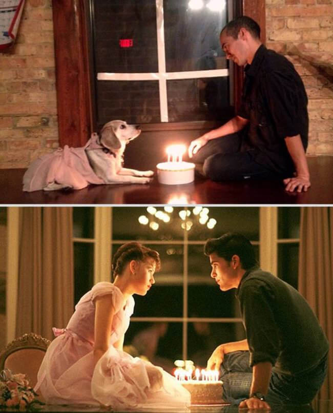 Famous Movie Scenes With His Dog 4
