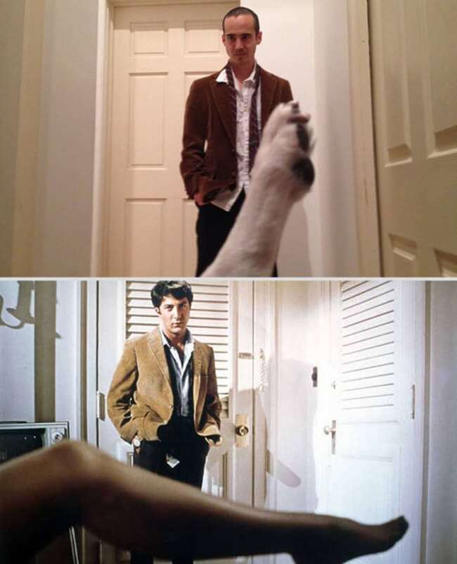 Famous Movie Scenes With His Dog 8