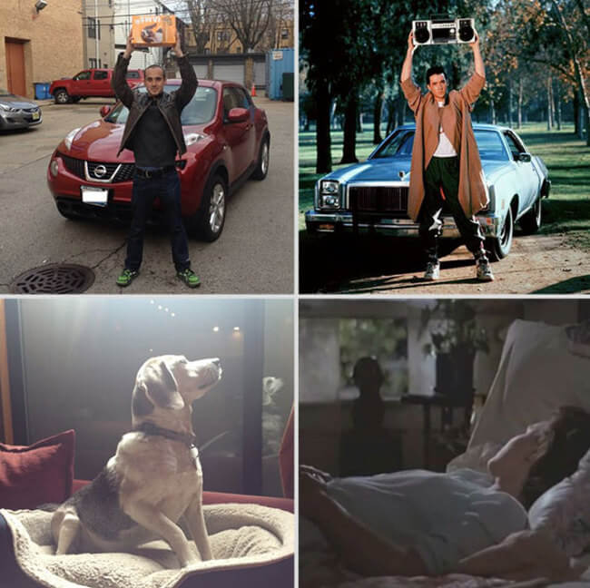 Famous Movie Scenes With His Dog 10