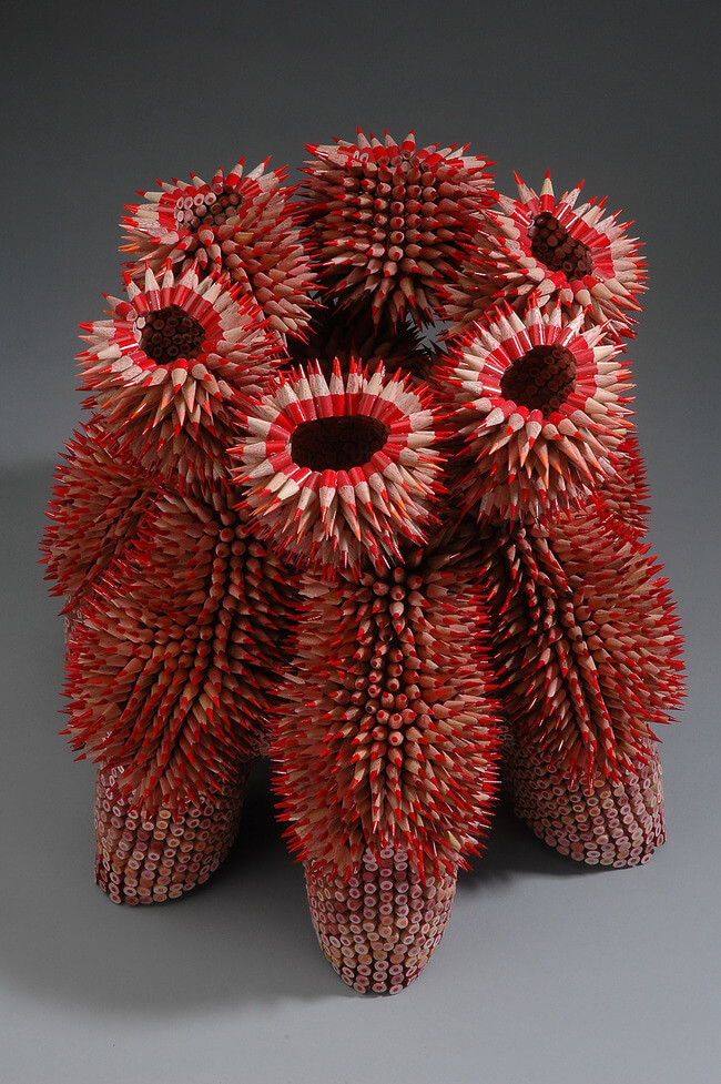 Jennifer Maestre pencil sculptures 5