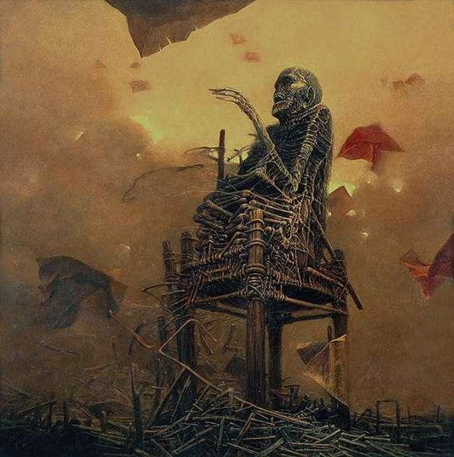 Zdzislaw Beksinski terrifying art 19