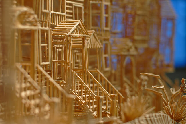 toothpick sculpture of san francisco 5