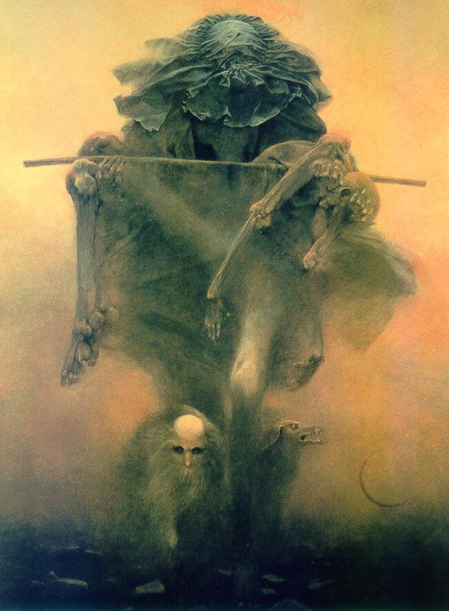Zdzislaw Beksinski terrifying art 10