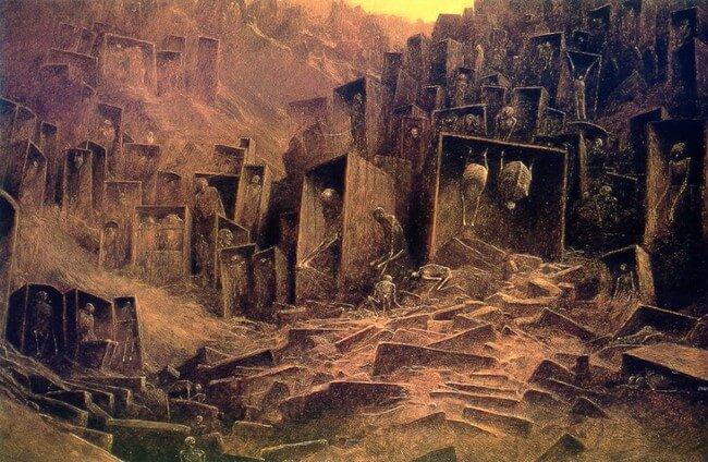 Zdzislaw Beksinski terrifying art 22
