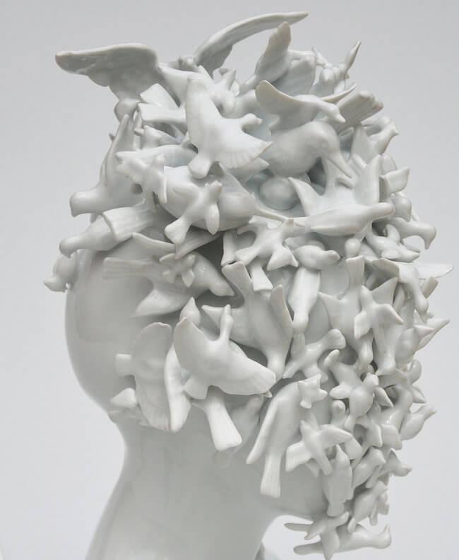 Porcelain Female sculpture 2