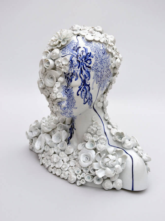 Porcelain Female sculpture 5