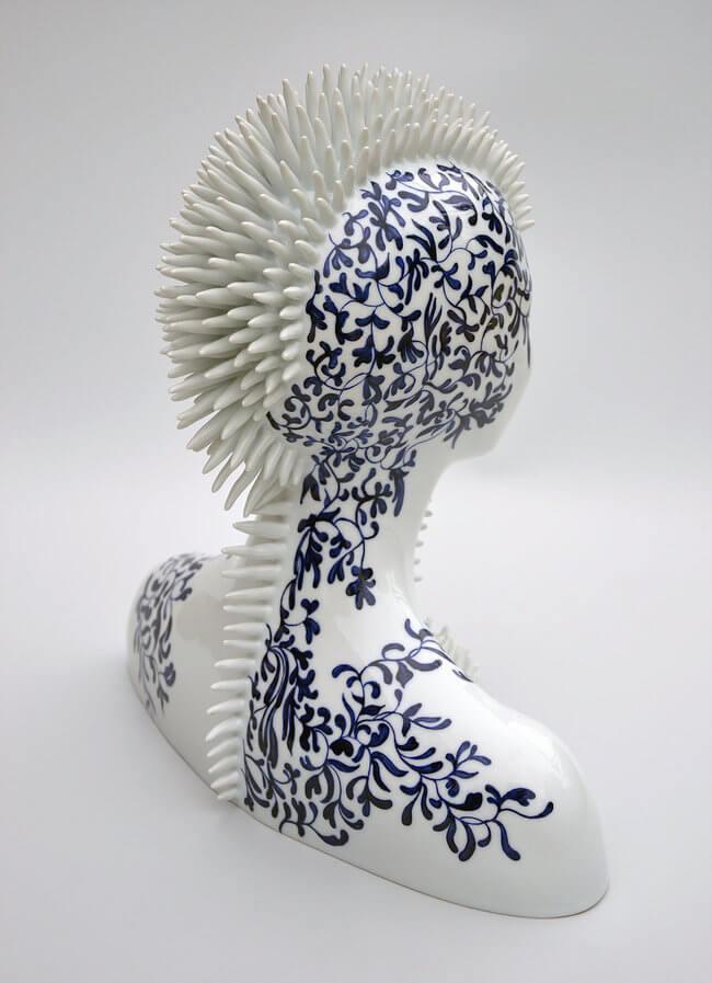 Porcelain Female sculpture 4