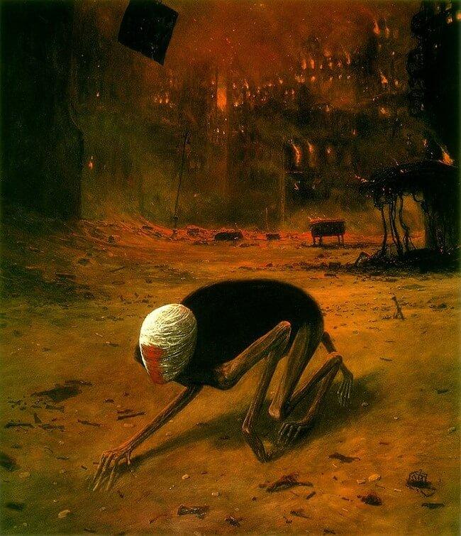 Zdzislaw Beksinski terrifying art 3