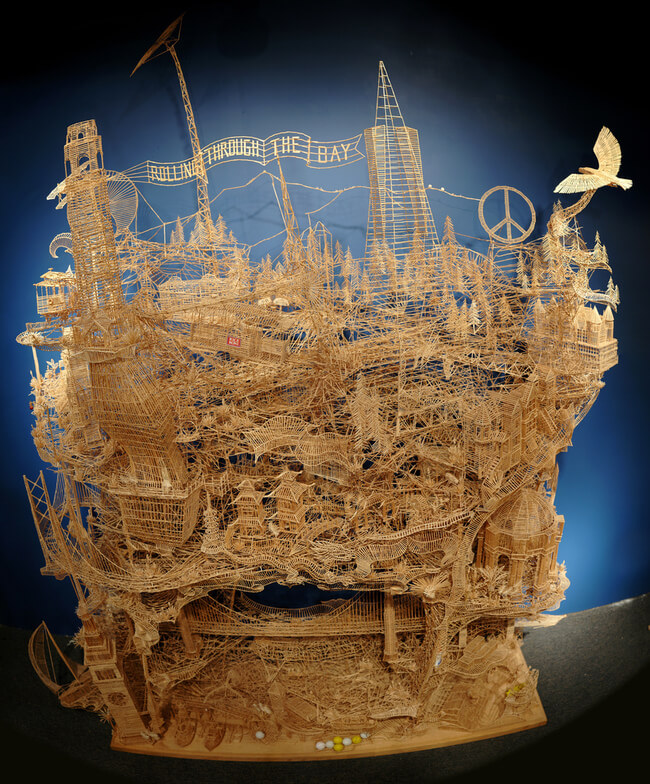 toothpick sculptures of san francisco 7