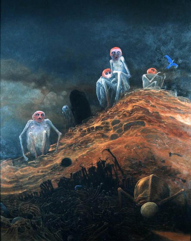 Zdzislaw Beksinski terrifying art 12