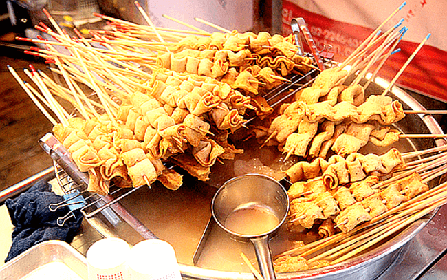 Korean Worm Street Food