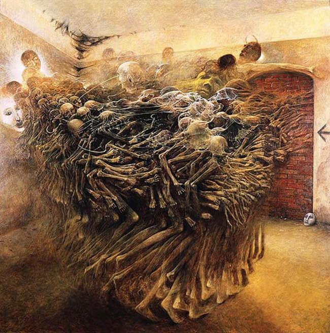 Zdzislaw Beksinski terrifying art 6