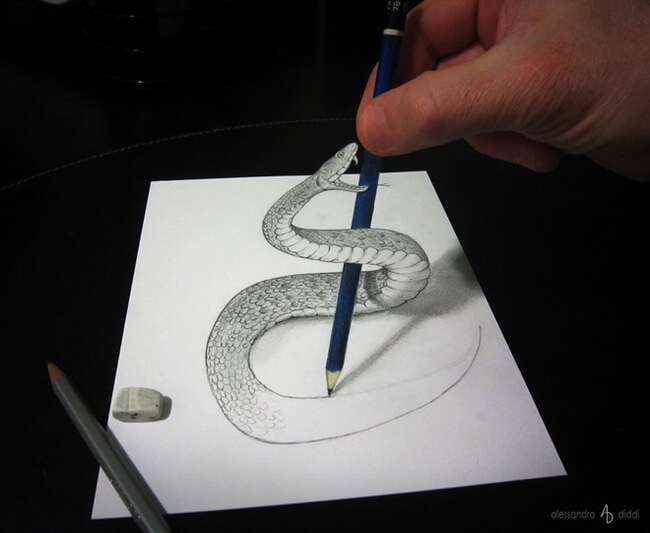 pencil illusions 7