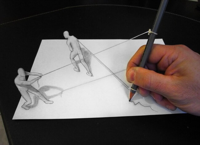 Stunning D Drawing Illusions By Alessandro Diddy - Artist creates amazing 3d sketches that leap from the paper theyre drawn on