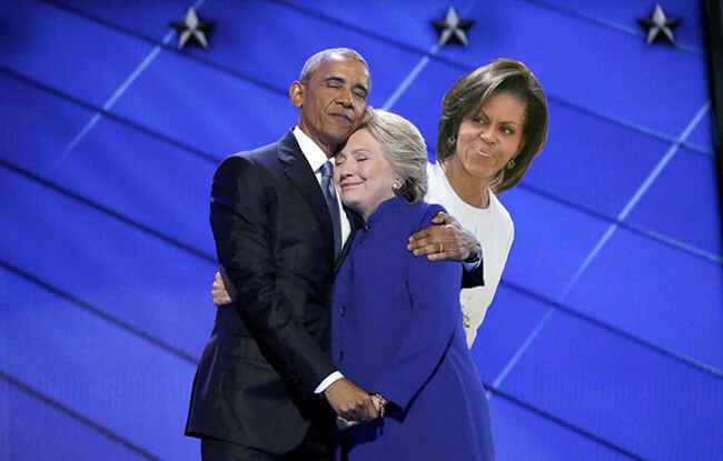 Obama And Clinton Hug 9