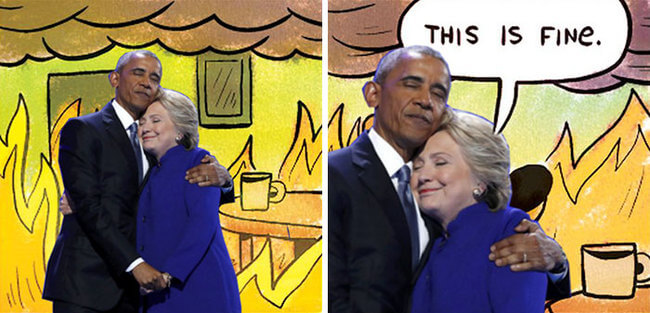 Obama And Clinton Hug 11