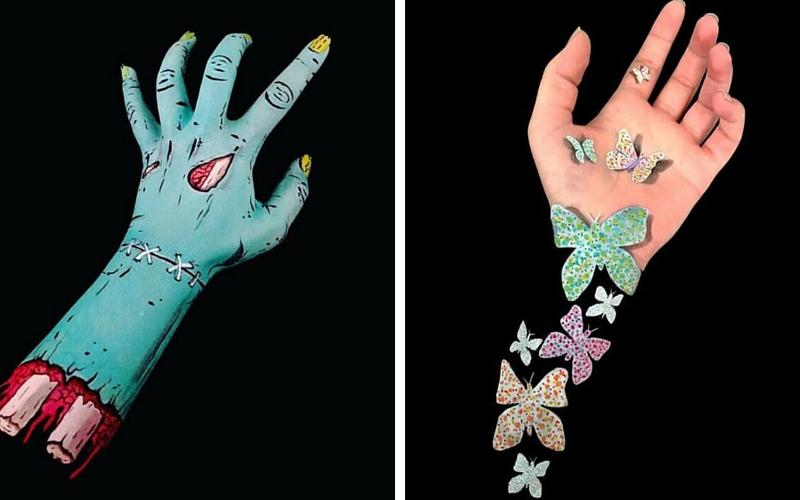 Lisha Simpson Uses Body Art To Turn Her Arms Into Optical Illusions