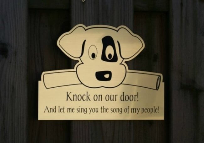 dog signs - dog song