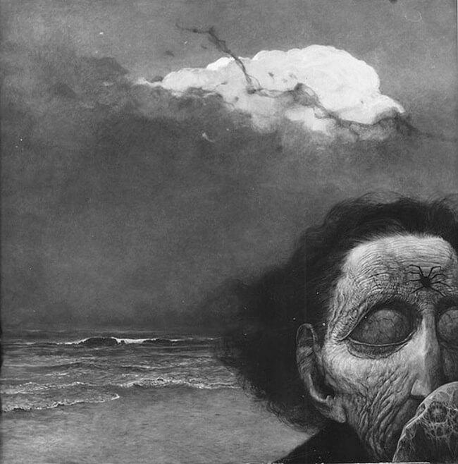 Zdzislaw Beksinski terrifying art 11