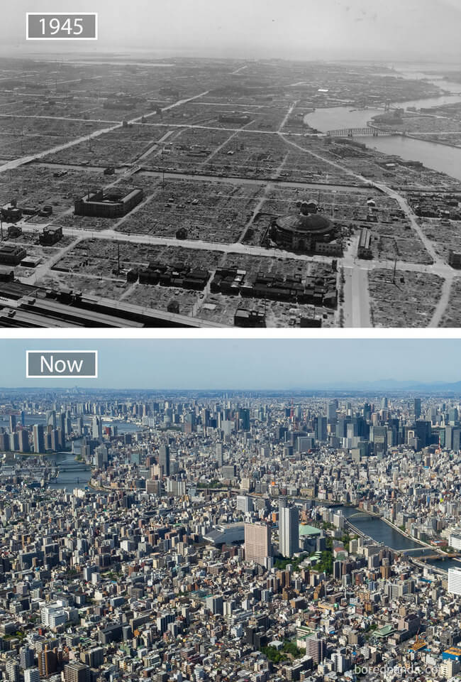 before and after photos of famous cities 7