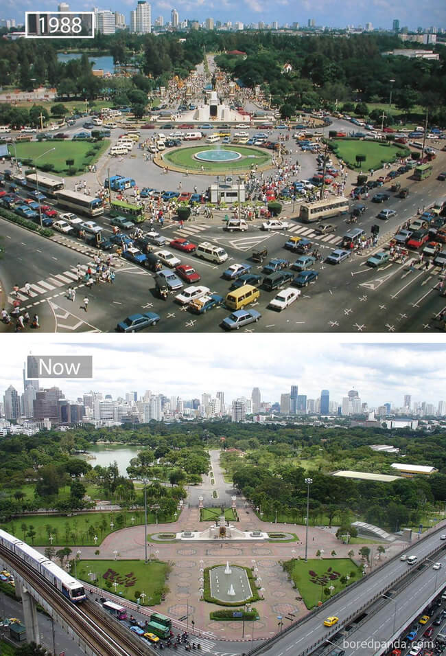 before and after photos of famous cities 15