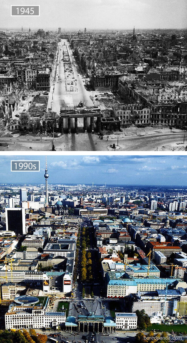 before and after photos of famous cities 13