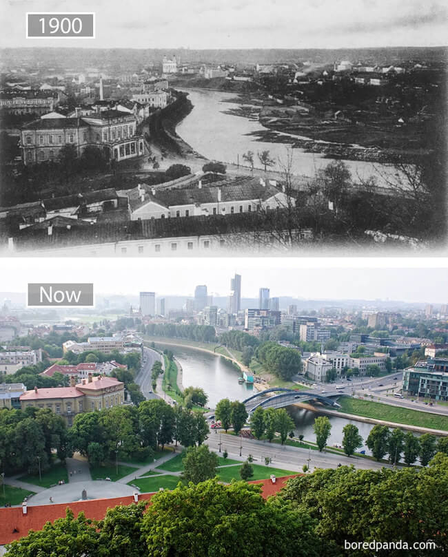 before and after photos of famous cities 5