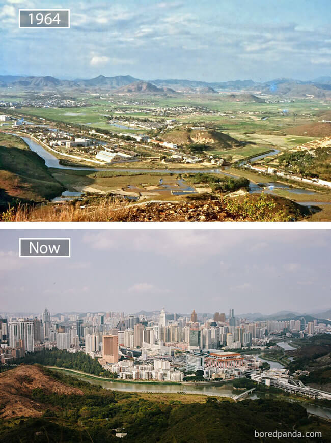 before and after photos of famous cities 10