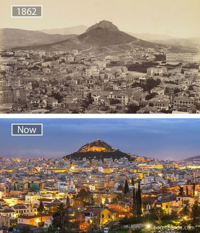 before and after photos of famous cities 14