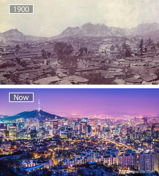 before and after photos of famous cities 3
