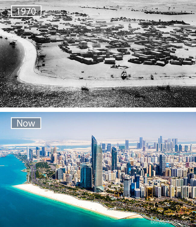 before and after photos of famous cities 4