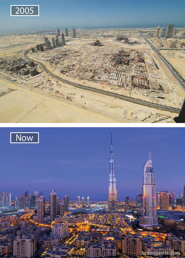 before and after photos of famous cities 8