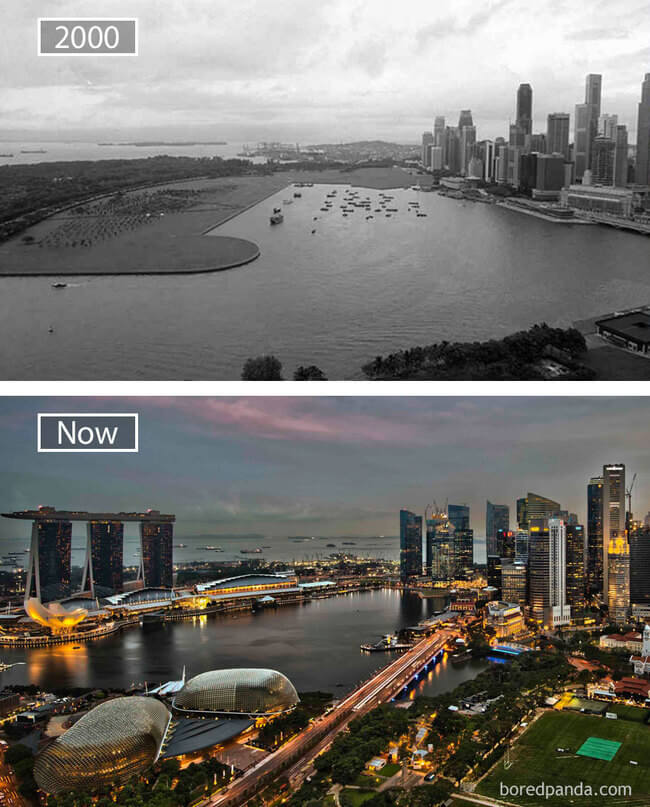 before and after photos of famous cities 6