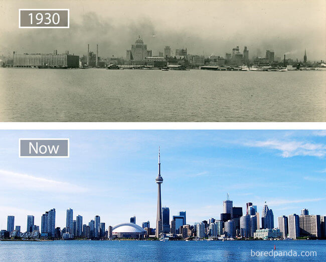 before and after photos of famous cities 16