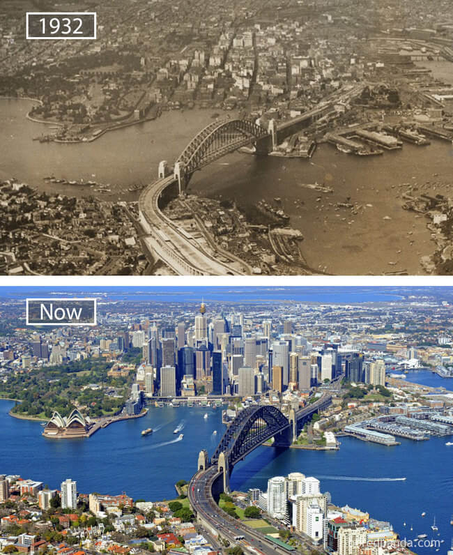 before and after photos of famous cities 12