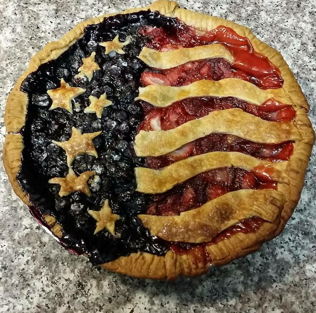 Delicious Old Glory Freedom Berry Pie